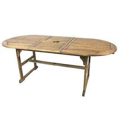 Tables 112590: River Cottage Gardens Wooden Acacia Oval Patio Table With  Leaves  U003e BUY