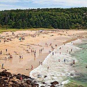 Sand Beach Bar Harbor Maine Coastalliving
