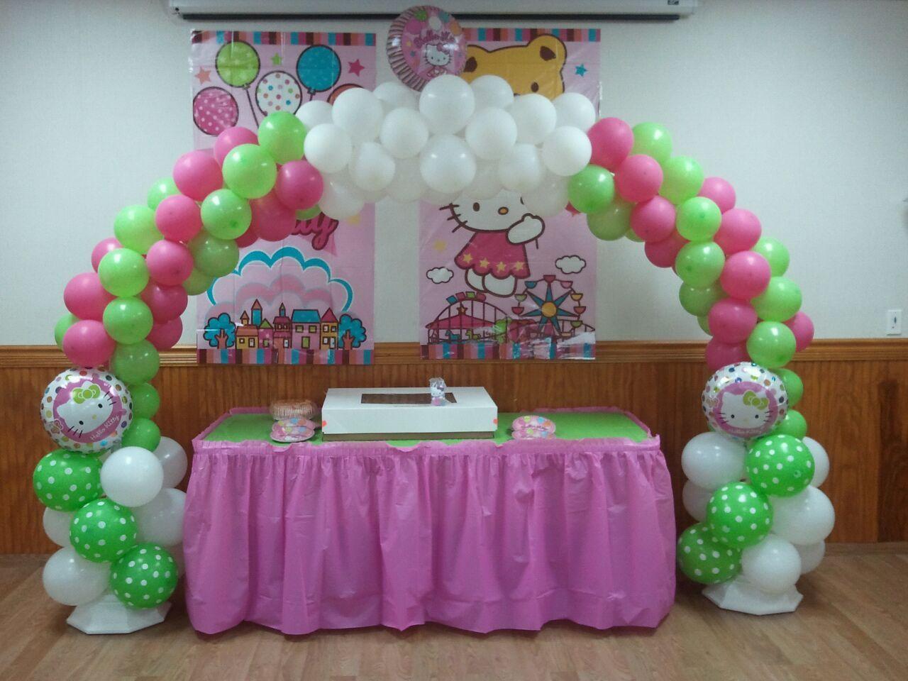 Hello Kitty balloon arch Party Ideas Pinterest Hello kitty