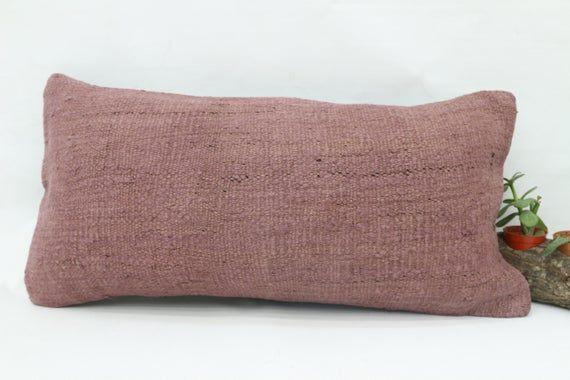 Bench Pillow,12x24 Wholesale Kilim Pillow,Neck Pillow,Flat Pillow,Hemp Pillow Cover,Tribal Pillow,Pi
