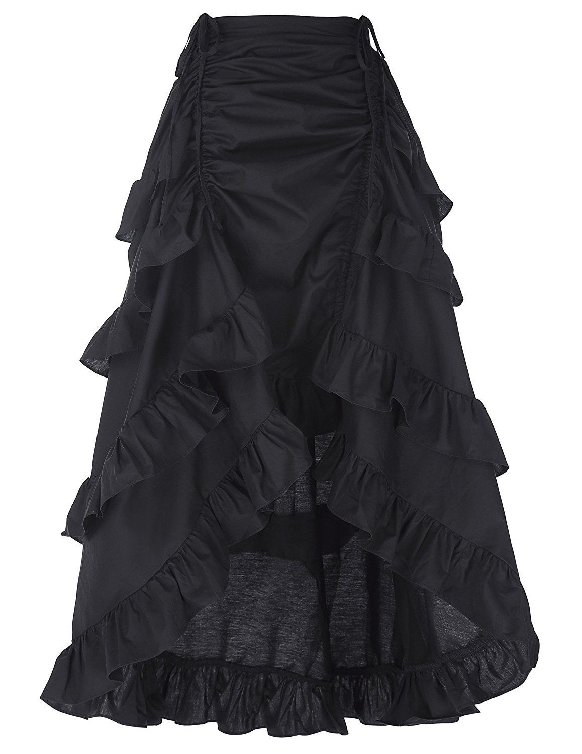 cb74b8d9c16f Belle Poque Women's Costume Steampunk Cocktail Party Skirts Black ...