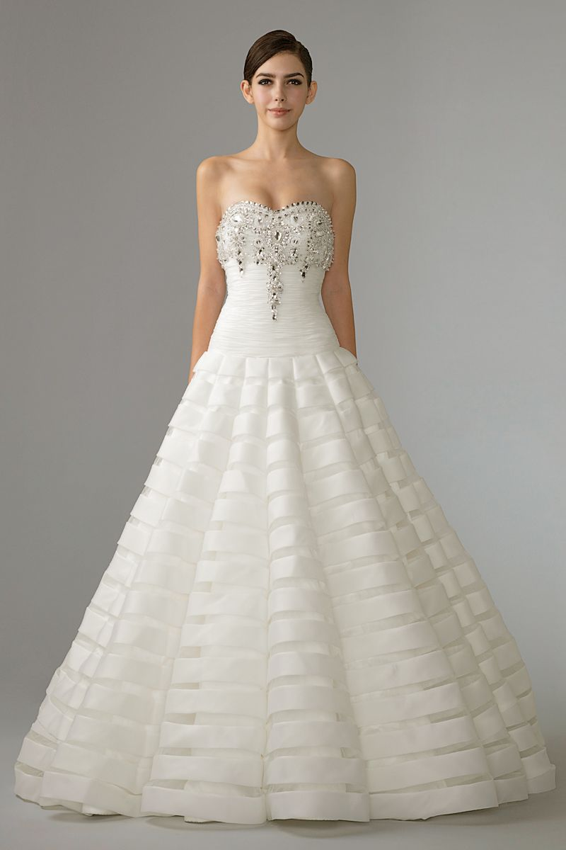 Ball gown wedding dress with bling  Ball Gown by Seletar Broadway  Inspiration for the Bling Bride