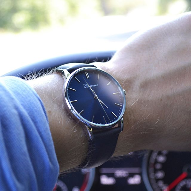 Classic Blue on the road. Free shipping worldwide - www.bonvier.com #bonvier #watches #orologi