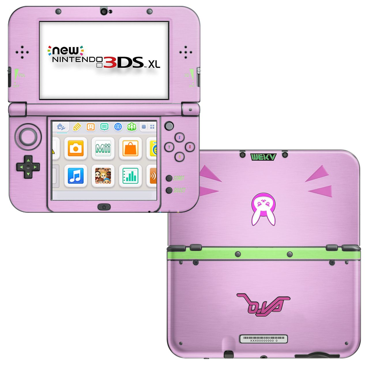 D Va Pink New 3ds Xl Skin Gaming In 2019 New 3ds Pink Games
