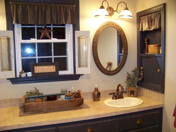 Christmas country bathroom decor
