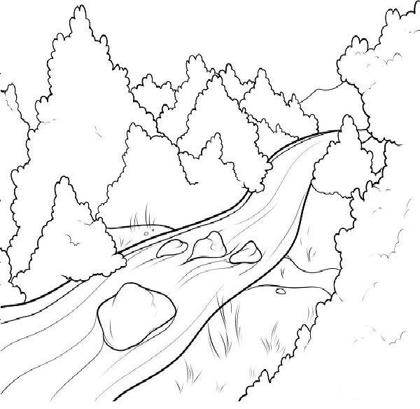 river coloring pages  disegno per bambini disegni da