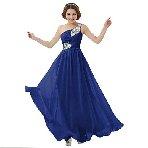 Damen Lange Kleider mit einem eleganten Schultertraeger ...