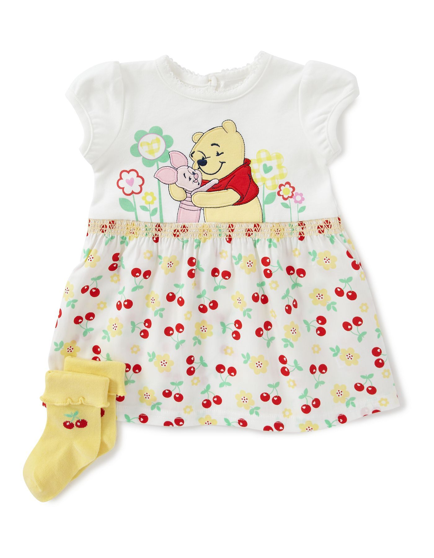 Winnie the Pooh Baby Dress Baby George at ASDA