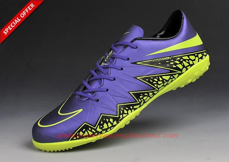best cheap 309c9 4ad16 TF NIKE HYPERVENOM Phantom II PURPLE/VOLT/BLACK | soccer ...