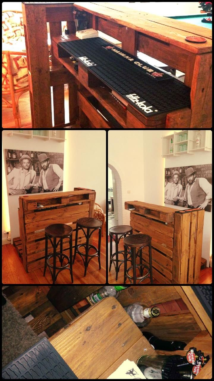 Diy pallets of wood 30 plans and projects pallet furniture ideas - Upcycled Pallet Bar Table Pallet Furniture Diy Home Decor Ideas From Old Pallets