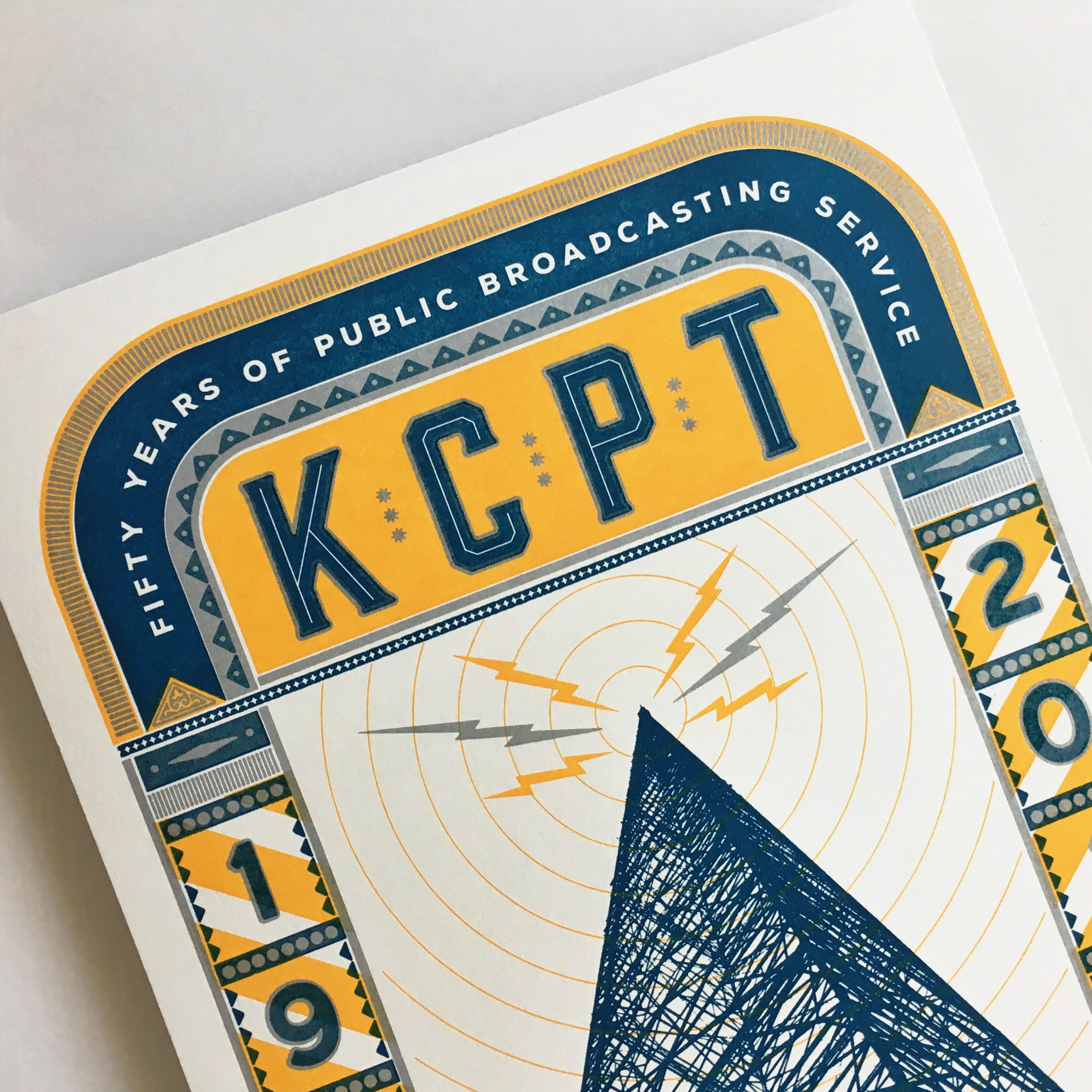 Designed And Letterpress Printed For Kcpt Commemorating The 50th Anniversary For Public Television Letterpress Printing Print Design Letterpress