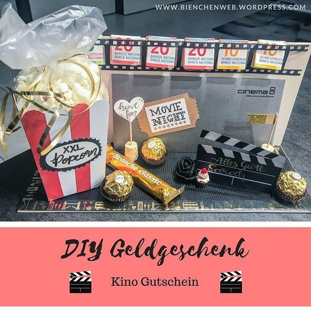 DIY Geldgeschenk - Kino Gutschein | meine DIY\'s / Bienchen ...