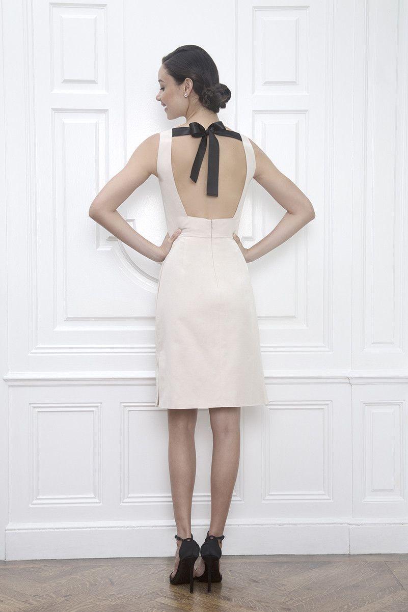 Virginia Backless Short Off White Wedding Reception Dress ...