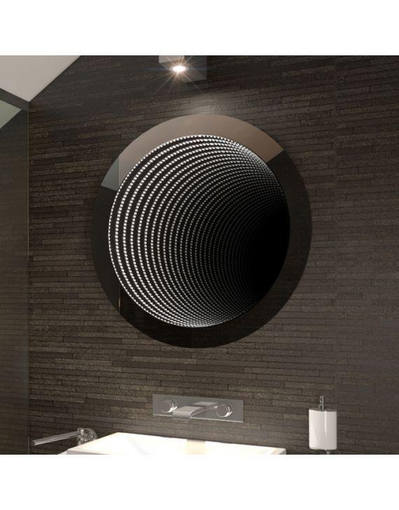 <p>H:800 x W:800 x D:45mm Infinity Circle LED Light Bathroom Mirror m135</p>