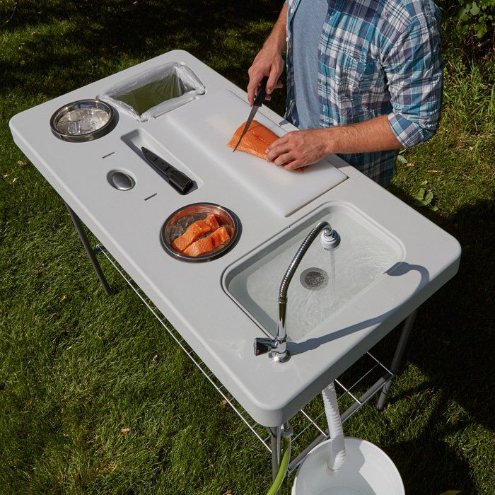 Deluxe Fish Cleaning Camp Table with Flexible Faucet | www.kotulas ...
