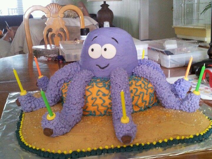 Wondrous Octopus Birthday Cake Octopus Cake Beach Themed Party Amazing Funny Birthday Cards Online Inifodamsfinfo