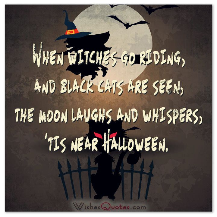 Nice 40 Funny Halloween Quotes, Scary Messages And Free Cards
