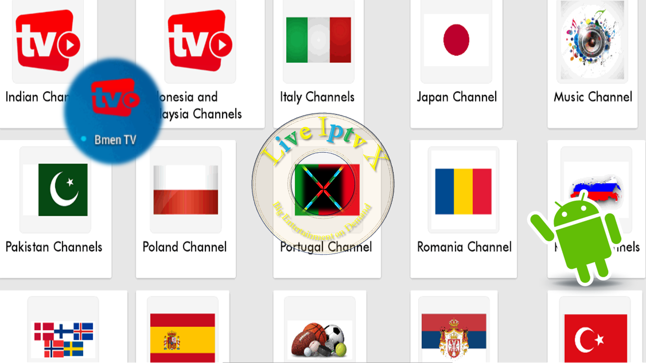 BmenTV APK World Wide TV Channels On Android Live Iptv