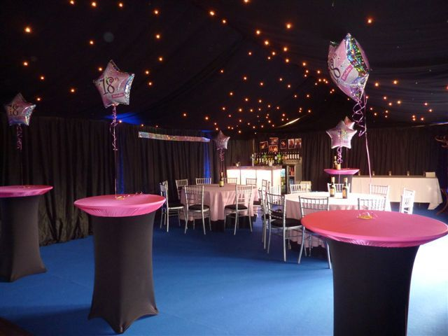 18th birthday party with starcloth marquee party for 18th birthday party decoration ideas