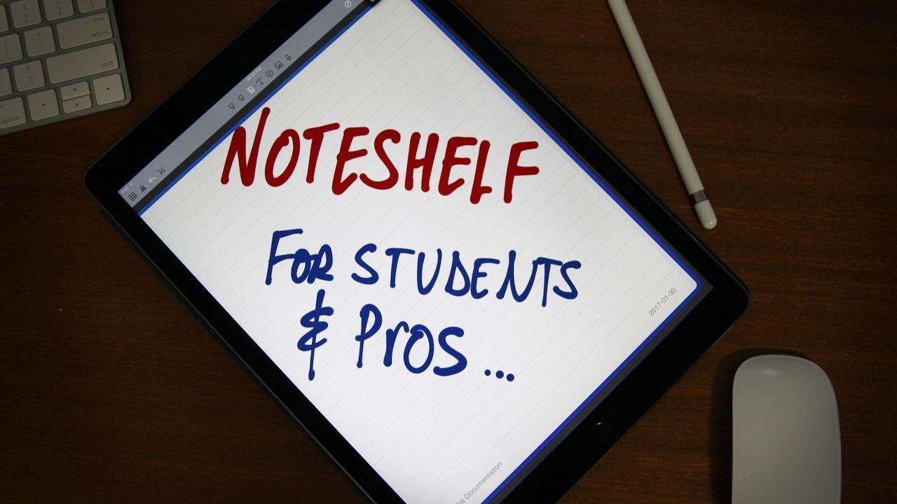 iPad Pro Best Note Taking App Noteshelf Good notes