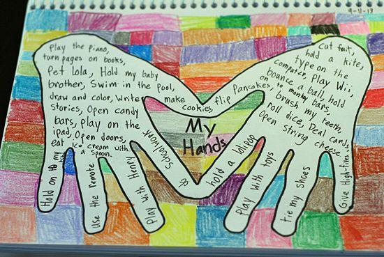 Art journaling with kids my hands art journal ideas for Journal painting ideas
