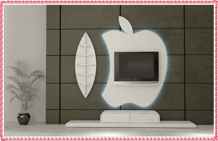 Apple TV Wall Unit Design Examples 2016 Modern TV Wall Unit TV