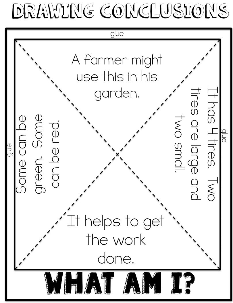Drawing Conclusions Freebie Drawing Conclusions Reading Mini Lessons Drawing Conclusions Activity [ 1053 x 811 Pixel ]