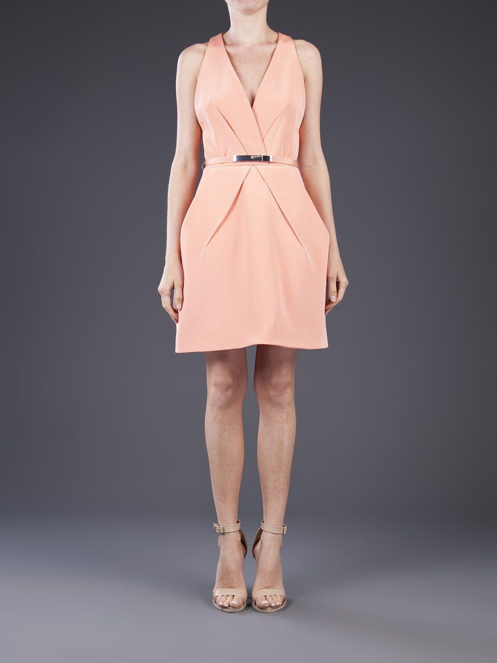 Kaufmanfranco belted short dress dresses pinterest best belted