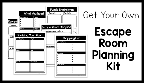 So you've decided to create your own escape room. You've