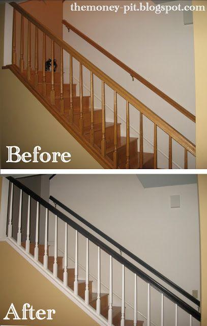 Elegant Stair Rails, No More Oak