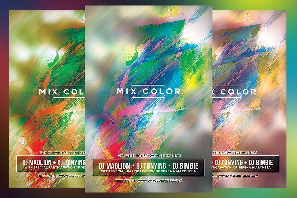 mix color club flyer by kirayamato on creativemarket flyers