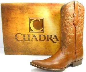 CUADRA: popscreencdn.com -deer skin men's cowboy boots in honeycolor. Botas de hombre en color miel.