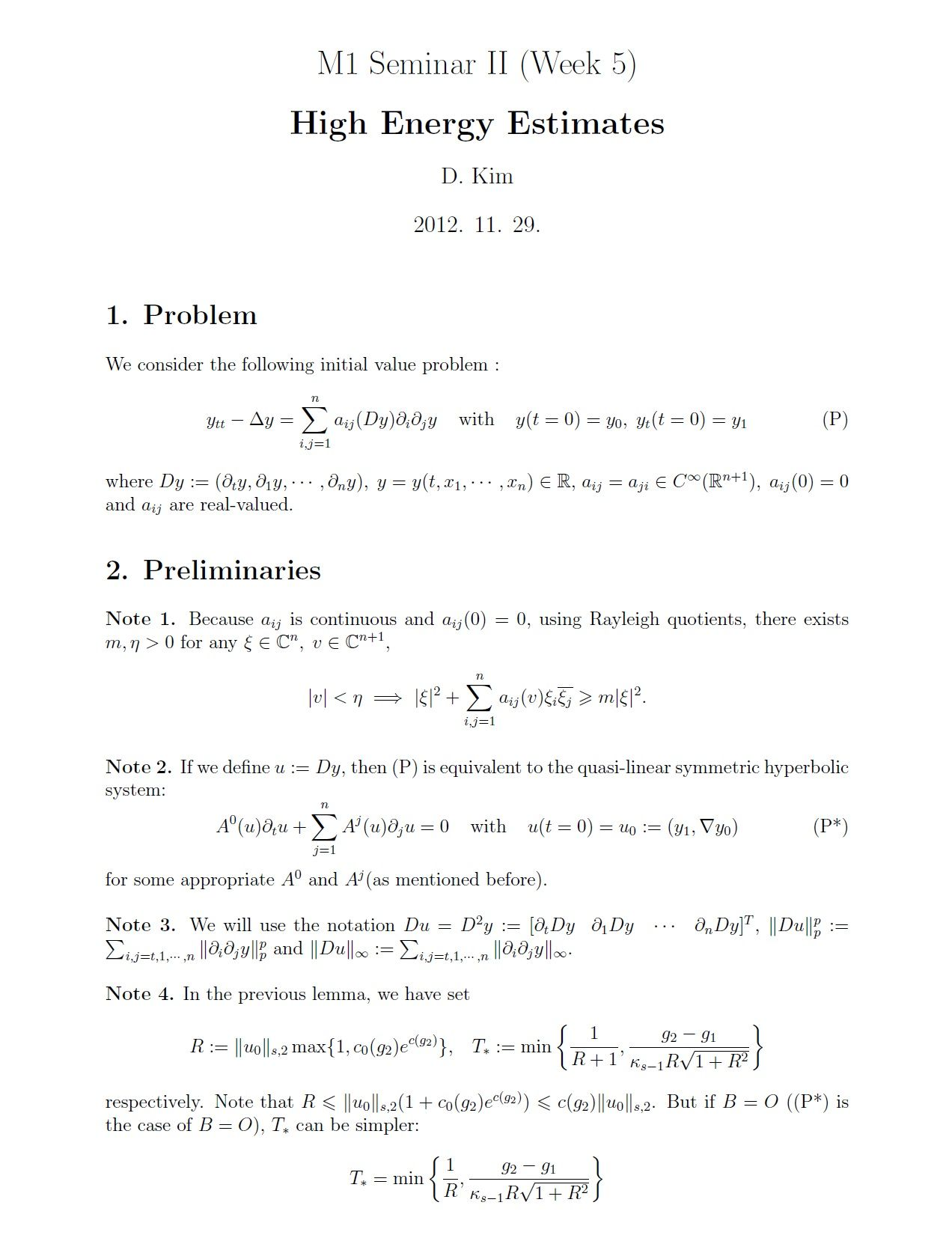 M1 Seminar II] Week 5 : High Energy Estimates #Math #Mathematics