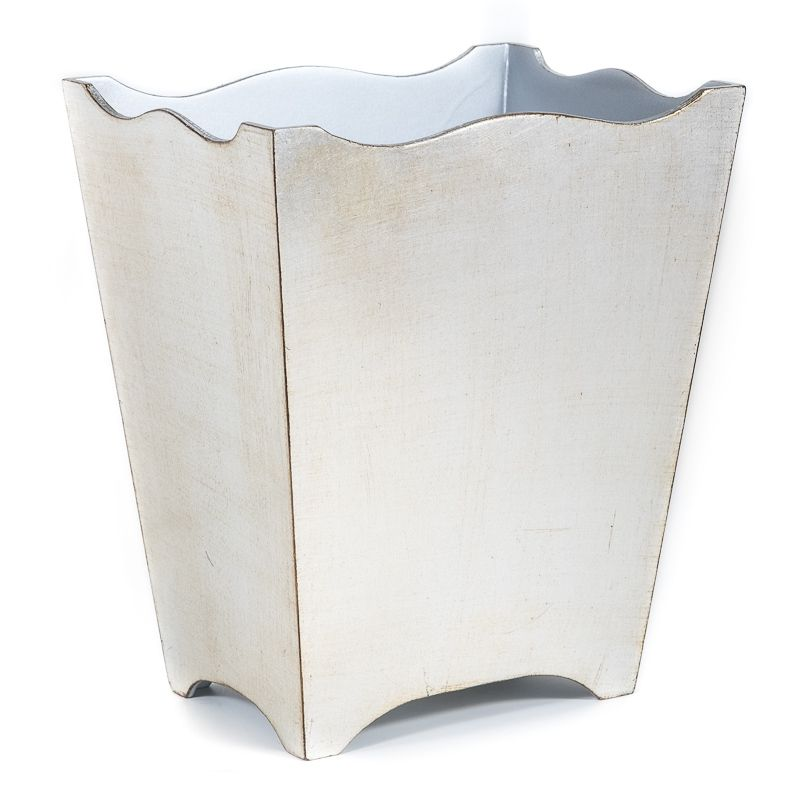 The Brushed Silver Bronze Floine Waste Paper Bin Is A Sumptuous And Decorative Basket That Adds Touch Of Style To Any