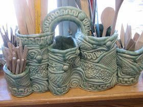 Make into an herb or succulent garden coil city. coil coolio! #makingpottery