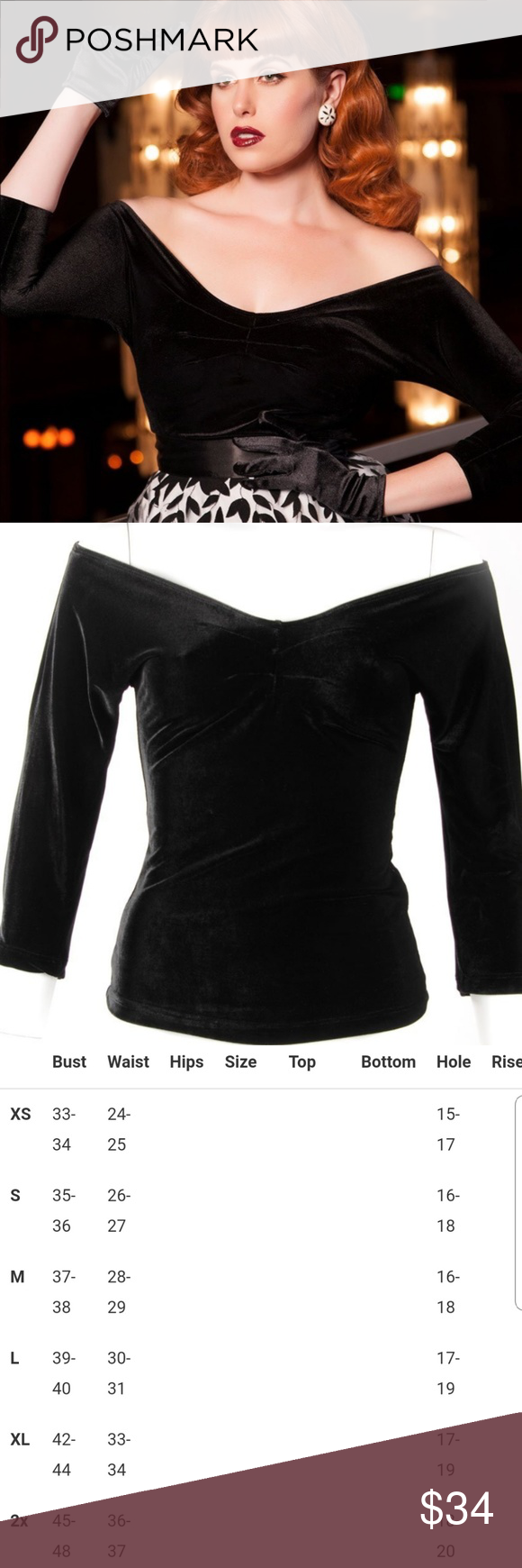 eec1742e9d5f1b Pinup Couture Lolita Top in Black Velvet Sirens