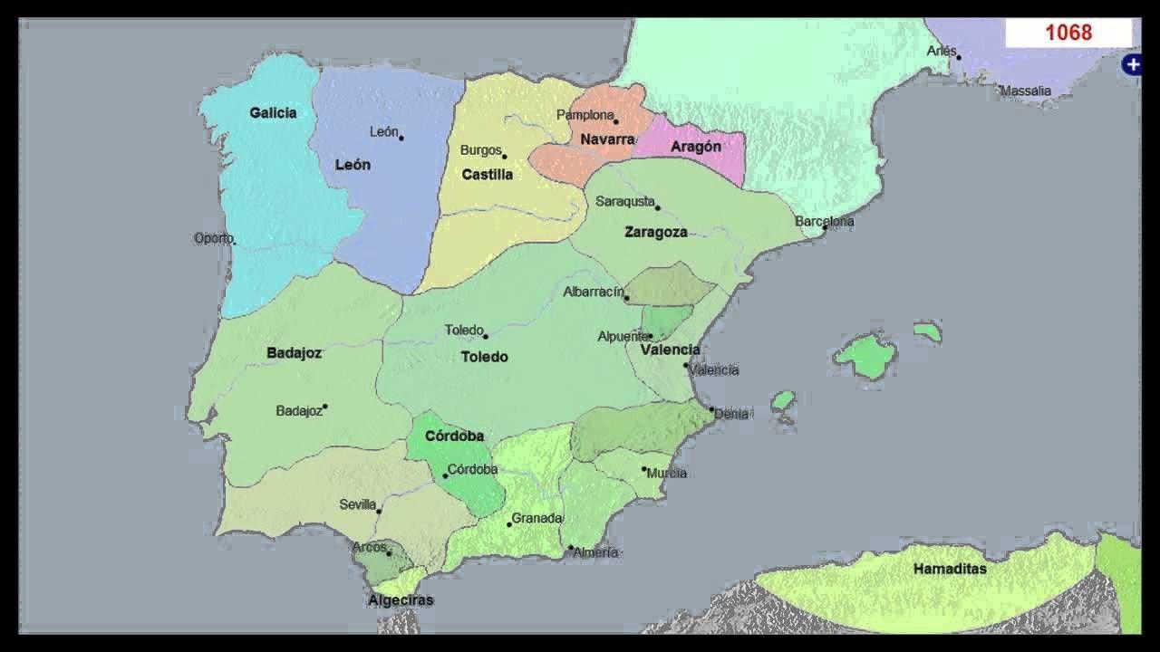 Mapa Histrico de Espaa y Portugal 3000 Aos  Historia de Espaa