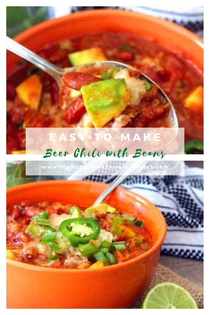 Crock Pot Beer Chili With Beans Recipe Delicious Soup Recipes Stuffed Peppers Delicious Soup