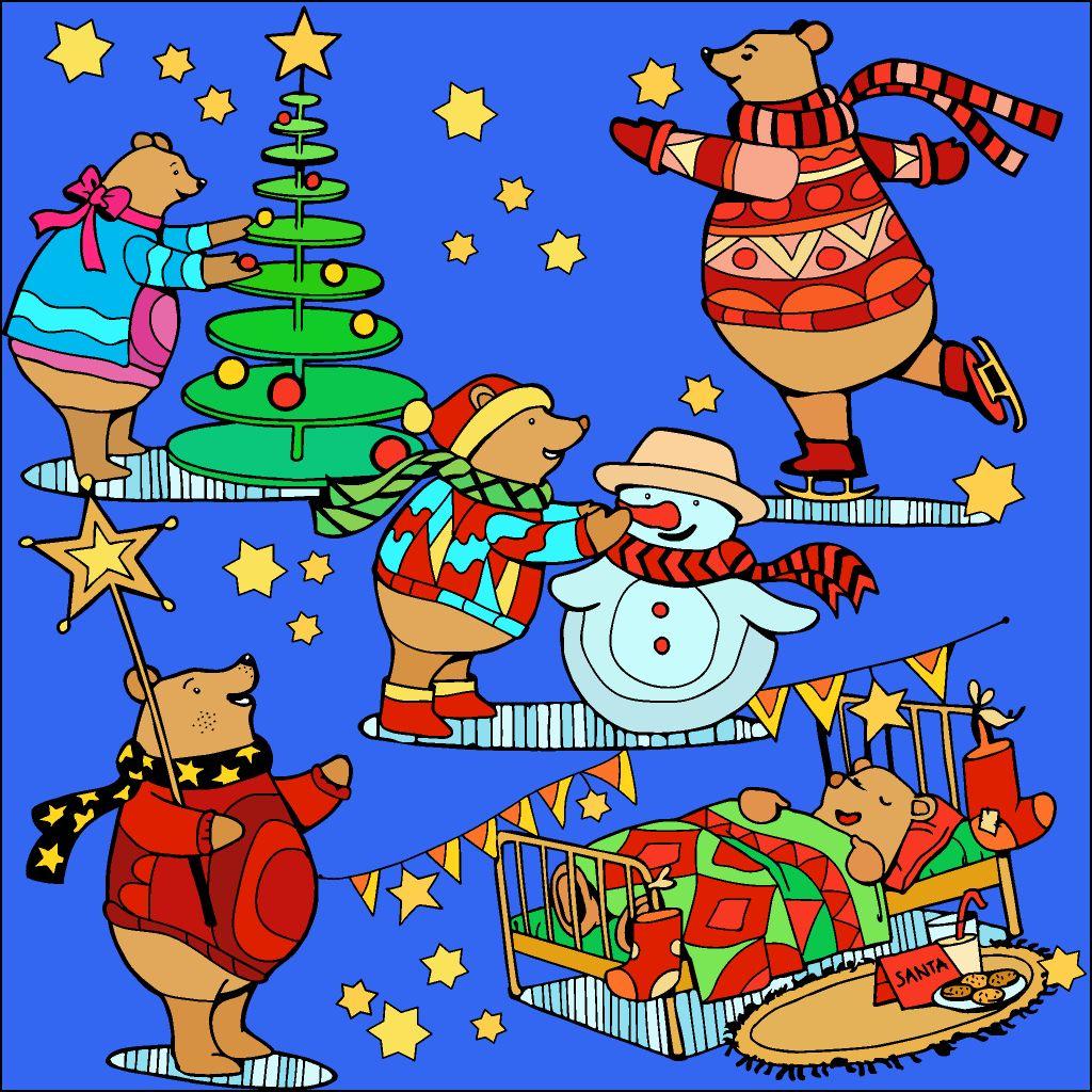 Beary Merry Christmas Clip Art