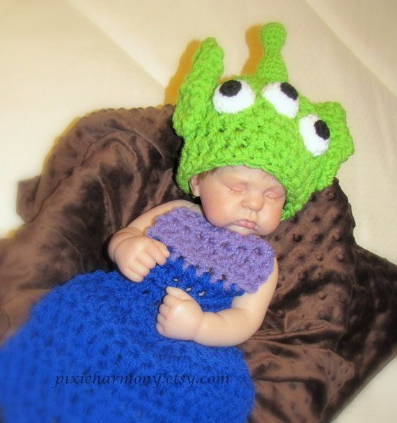 Newborn Baby PHOTO Prop ALIEN Monster Hat and by pixieharmony ...