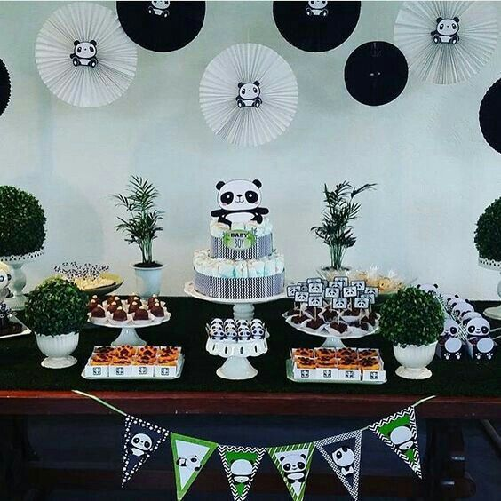 Idea Para Decorar Cumpleanos De Oso Panda Pinterest