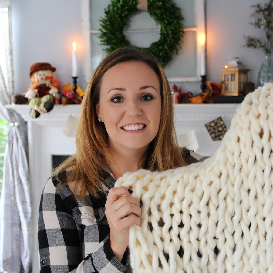 Chunky knit blanket tutorial how to make a chunky knit