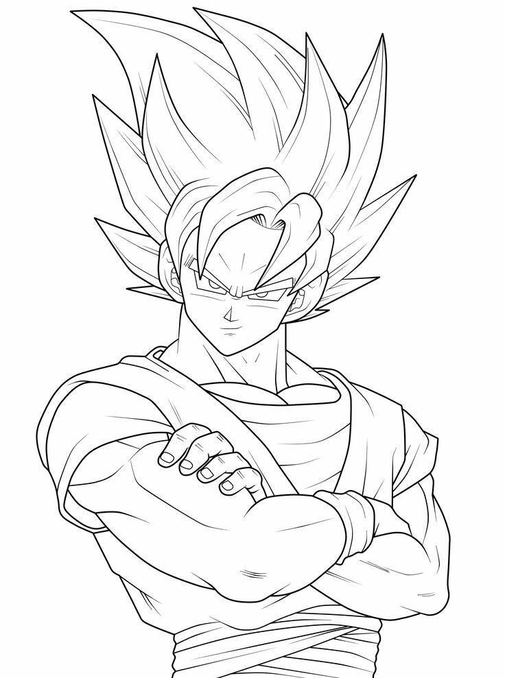 Goku lineart SK | heros | Pinterest | Goku