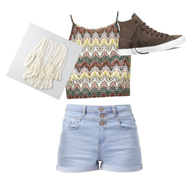 """School day"" by sydneefashion ❤ liked on Polyvore featuring Topshop, Converse and American Eagle Outfitters"