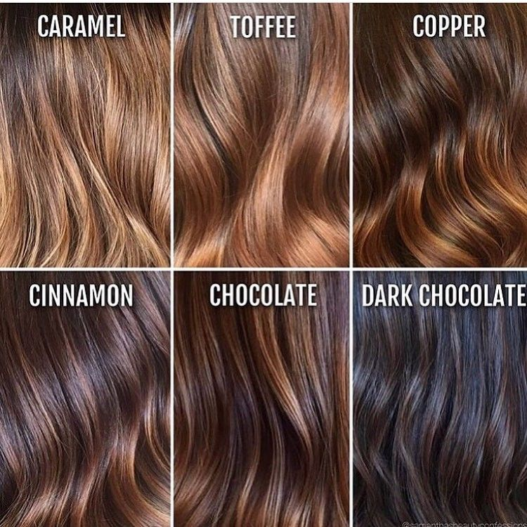 From Caramel To Dark Chocolate Hair Color Chart With Images