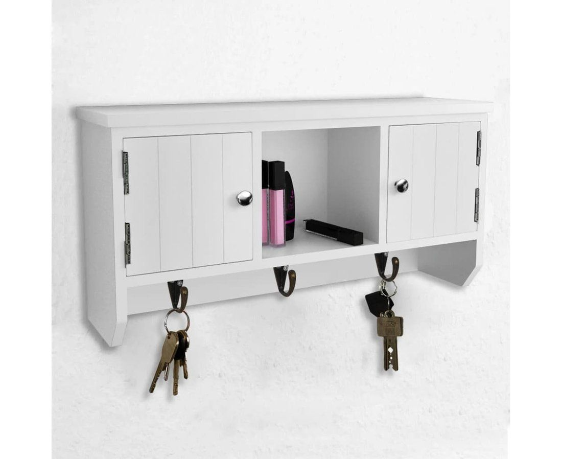 Wall Cabinet For Keys And Jewelery With Doors And Hooks Storage Box Storage Cabinets Jewerly Storage Wall Mounted Cabinet