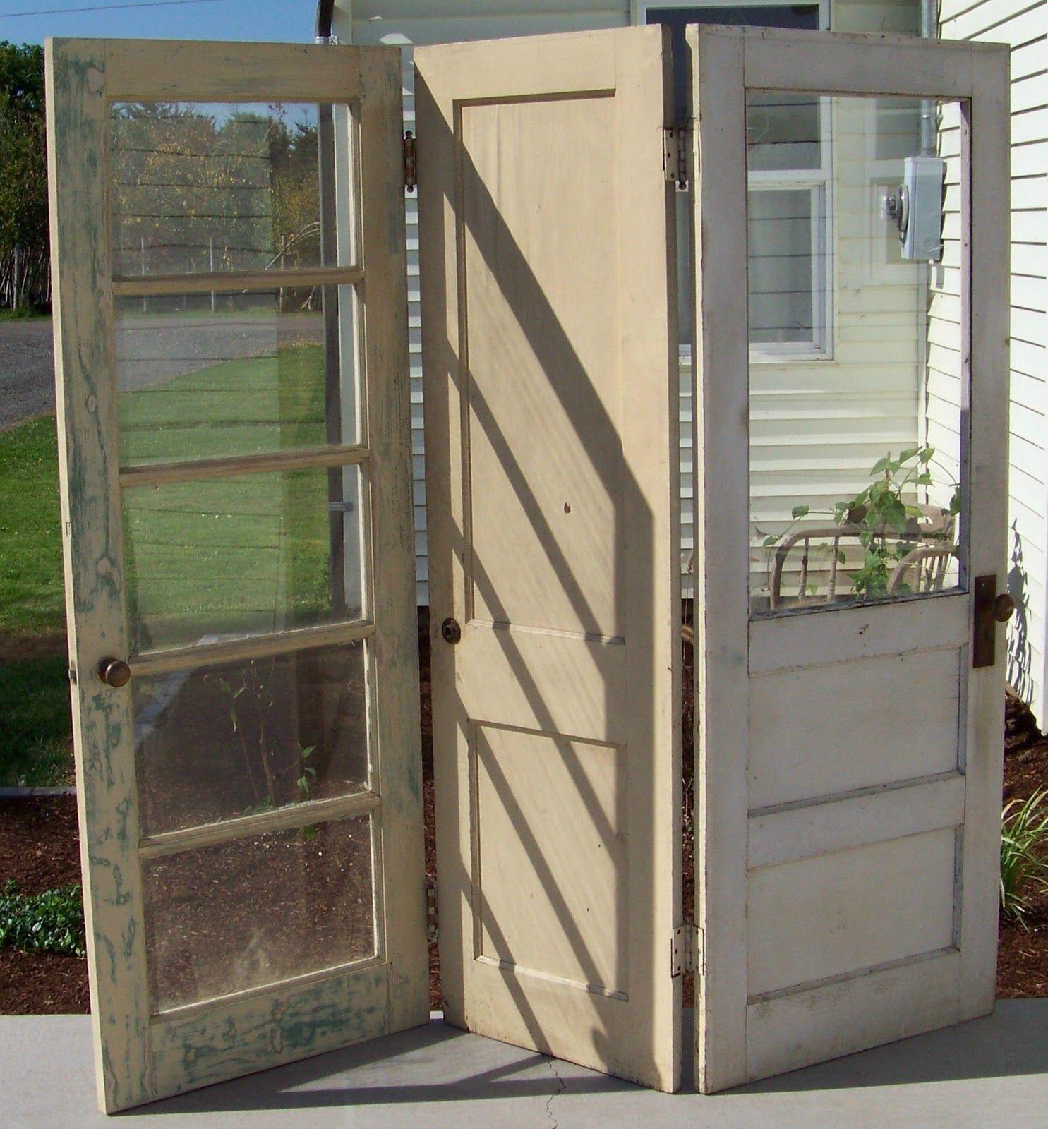 Door Separator Room Separator Ideas: Room Divider With Old Doors