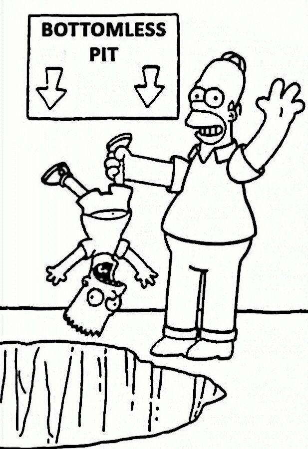 Ausmalbilder Die Simpsons 34 | Malvorlagen | Pinterest ...