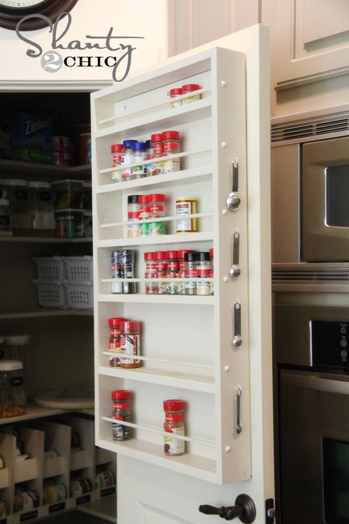 Door Mount Spice Rack Tutorial   I Would Love One Of These!
