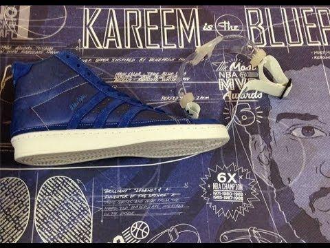 df9f49b40b8b Adidas Kareem Abdul Jabbar Hi Blueprint Allstar EPIC Sneaker Review + On  Feet With Dj Delz  DJ DELZ - YouTube